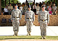 From left, U.S. Army Brig. Gen. Alan R. Lynn, commander, of 311th Signal Command, U.S. Army Lt. Gen. Robert L. Caslen, Jr., commanding general, of Combined Arms Center at Fort Leavenworth, Kansas, and U.S. Army 100721-A-NF756-042.jpg