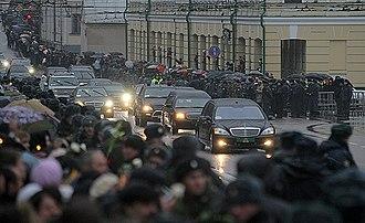 Motorcade - Image: Funeral of Patriarch Alexy II 11
