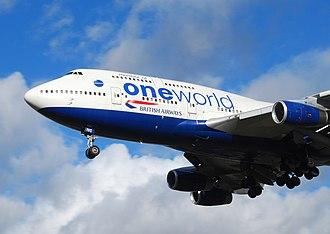 Airline alliance - British Airways Boeing 747-400