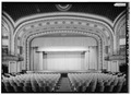 GENERAL VIEW OF STAGE FROM REAR OF THEATER - Tivoli Theater, 709-713 Broad Street, Chattanooga, Hamilton County, TN HABS TENN,33-CHAT,8-7.tif