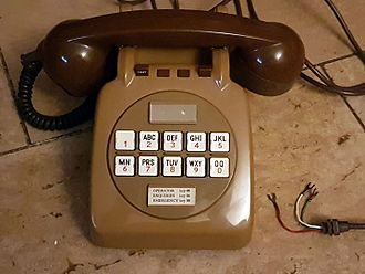 Telephone keypad - British GPO 726 telephone of 1967.