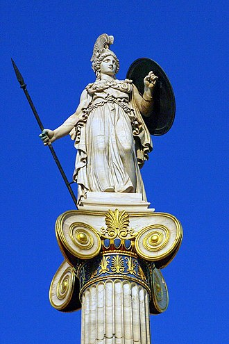 Leonidas Drosis - Close up view of the Athena column of the Academy of Athens