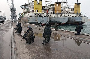 Battle of Umm Qasr - GROM commandos in the Umm Qasr port, 28 March 2003