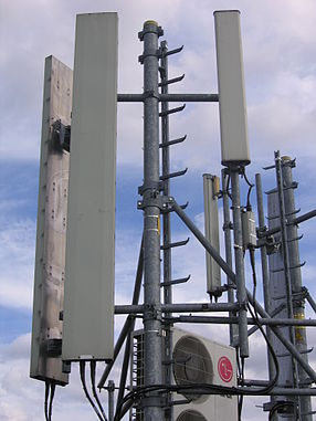 A GSM base station on a rooftop in Paris. Also used several times without proper attribution.