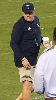 Geoff Collins (American football) American football coach