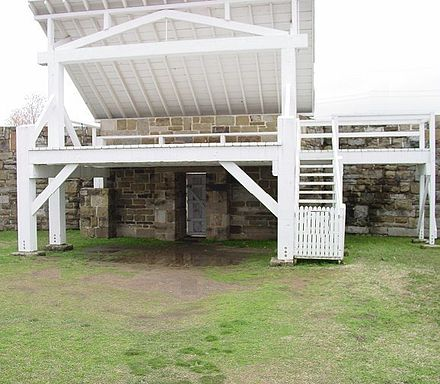 Gallows Ft. Smith Arkansas Gallows at Fort Smith Arkansas.jpg