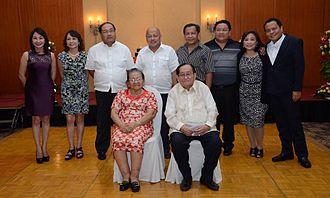 Gwendolyn Garcia - Gov. Gwen Garcia (leftmost, second row) with her family.