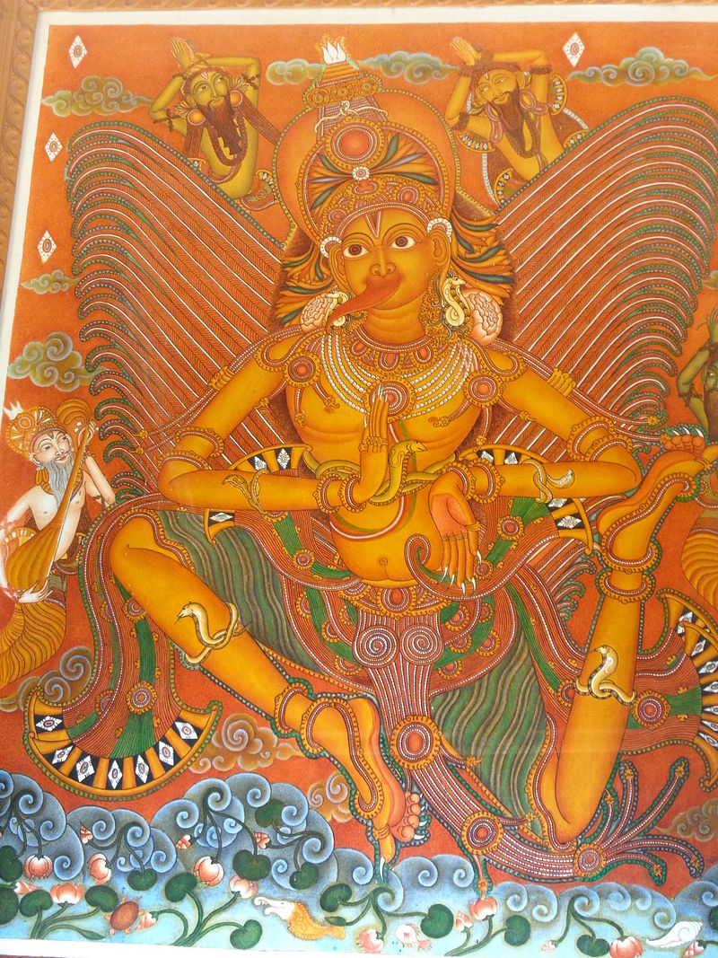 Garuda picture sreevallabha temple.JPG