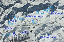 K2 Mountain Map Gasherbrum - Wik...