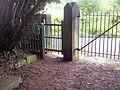 Gates at Whorlton Old Church - geograph.org.uk - 517232.jpg