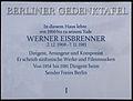 Gedenktafel Bismarckallee 32a (Grunw) Werner Eisbrenner.JPG