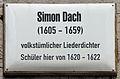 Gedenktafel Kirchplatz (Wittenberg) Simon Dach.jpg