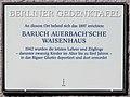 Gedenktafel Schönhauser Allee 162 (Prenzl) Baruch Auerbachsche Waisenhaus.jpg