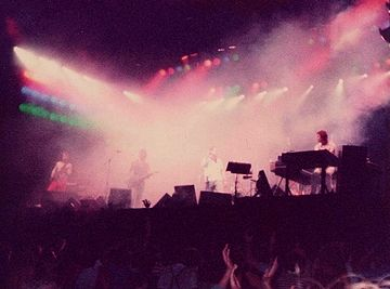 Concierto de Genesis en Pisa, Italia, 6 de septiembre de 1982.