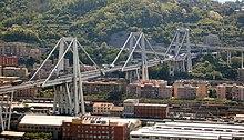 Viadotto Polcevera, Genova (parzialmente crollato il 14 agosto 2018 e demolito nel corso del 2019)