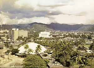 Hilton Hawaiian Village - The geodesic dome in 1965