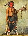 George Catlin - Hoo-w'a-ne-kaw, Little Elk - 1985.66.215 - Smithsonian American Art Museum.jpg