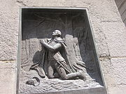 George Washington in prayer at Federal Hall in New York City IMG 1694