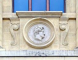 Georges Cuvier 4 médaillon galerie évolution MNHN.jpg