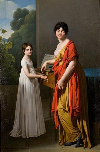 Guillaume-Charles Faipoult - Germaine Faipoult de Maisoncelle and her daughter Julie by Serangeli circa 1799 by Gioacchino Giuseppe Serangeli