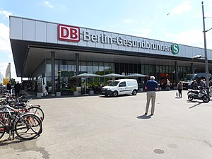 Berlin-Gesundbrunnen station - New Entrance building