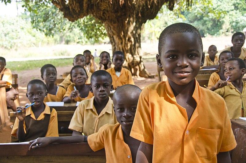 File:Ghana school under the trees.jpg