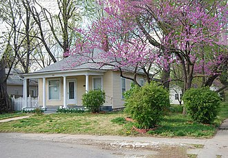 Ginger Rogers - 100 W Moore St., Independence, Missouri, birth home of Ginger Rogers