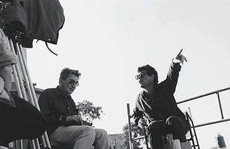 Amos Gitai - Amos Gitai and Henri Alekan, shooting Esther, 1986.
