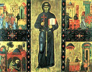 Saint François et quatre de ses miracles