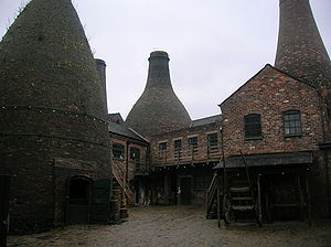 Gladstone Pottery Museum - Inner courtyard of the museum