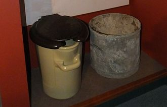 "Night soil - Industrially produced ""sanitary ware"", now in the Gladstone Pottery Museum"