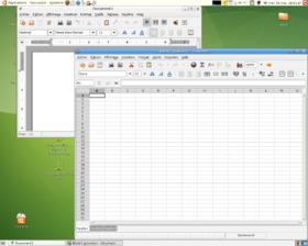 Le bureau GNOME en version 2.18 affichant les outils GNOME Office.