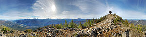 Eastern Washington - The summit of Goat Peak in the Okanogan National Forest