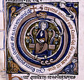 God seated in the center, surrounded by a circular serpent biting its own tail as a symbol of the returning cycles of the year (NYPL b12455533-426176) detail.jpg