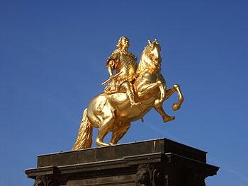 """""""Golden Horseman"""" in Dresden, Germany"""