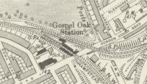 Gospel Oak railway station - Ordnance Survey map, 1920