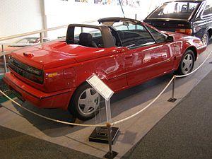 Volvo 480 - A Volvo 480 Cabrio prototype in the Volvo Museum