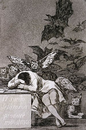 Reason - Francisco de Goya, The Sleep of Reason Produces Monsters (El sueño de la razón produce monstruos), c. 1797
