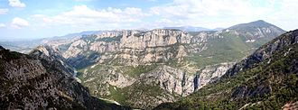 Verdon (river) - A view from the Verdon Gorge