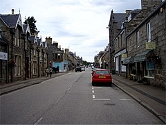 Straßenzug in Grantown-on-Spey