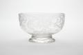 Graverad glasskål, möjligen från Skånska glasbruket, 1700-talets första hälft - Skoklosters slott - 93442.tif