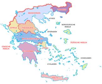 Karte Griechenland.Politische Gliederung Griechenlands Wikipedia