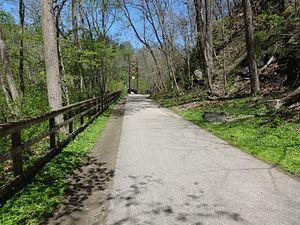 Grist Mill Trail - Image: Grist Mill Walking Bridge 01