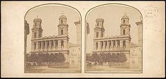 Group of 17 Early Calotype Stereograph Views - Église Saint-Sulpice 1.jpg