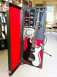 1962 silvertone amp-in-case including guitar (this guitar was reissued as  dano '63 in 2008)