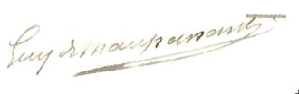 Guy de Maupassant - Image: Guy de Maupasant Signature