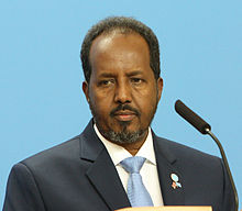 H.E. Mr Hassan Sheikh Mohamud, President of the Federal Republic of Somalia (cropped).jpg