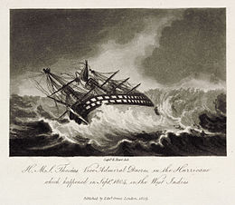 H.M.S. Theseus Vice Admiral Dacres, in the Hurricane Plate 1.jpg