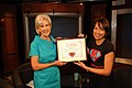 HHS Secretary Sebelius Accepts MomsRising Award.jpg