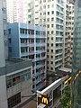 HK 堅尼地城 Kennedy Town 士美非路市政大廈 Smithfield Municipal Services Building 外望景觀 view 石山街 Rock Hill Street Sept-2011.jpg